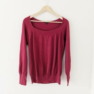 Reba Red Boat Neck Sweater Size Large